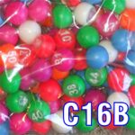Coloured numbered marbles