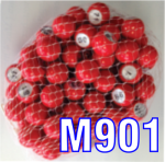 Red raffle marbles