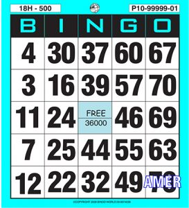 American Bingo card